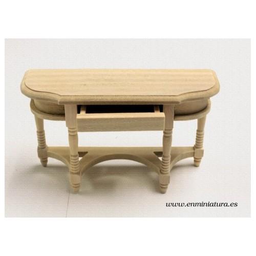 Consola madera natural