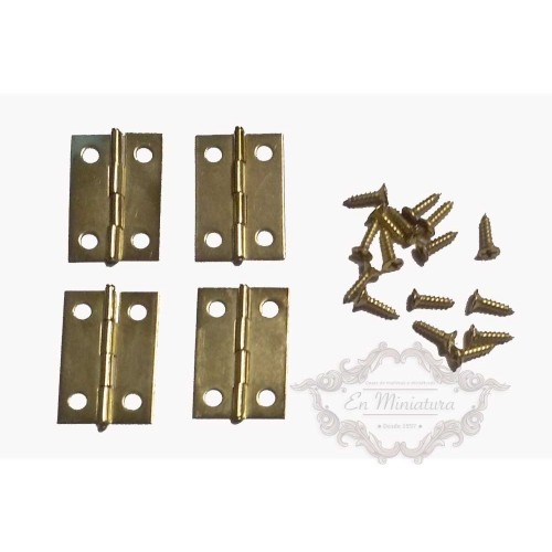Brass hinges 24mm x 16mm