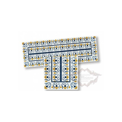 Cenefa de mosaico azul