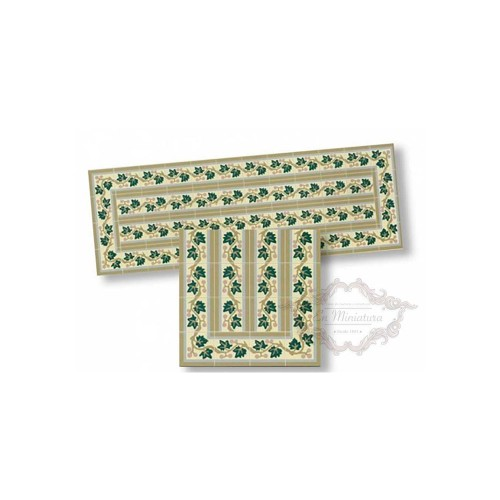 Cenefa de mosaico verde 34172