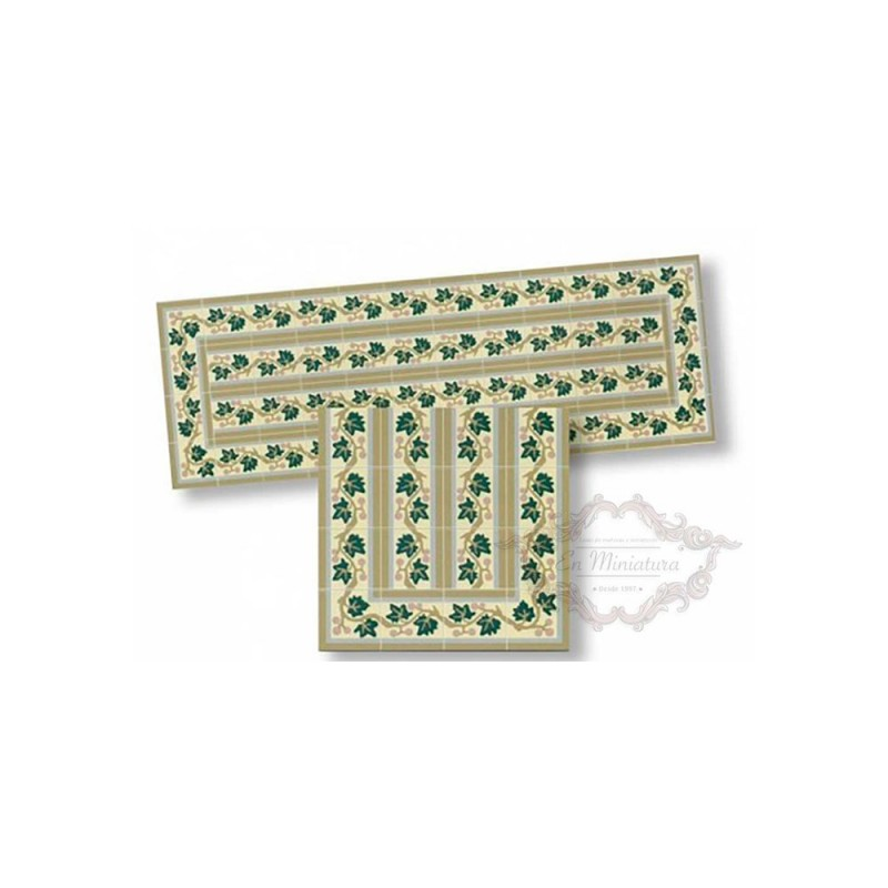 Cenefa de mosaico verde