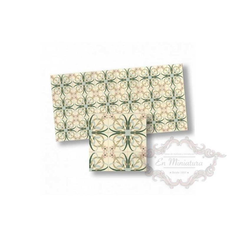 Mosaico en verdes