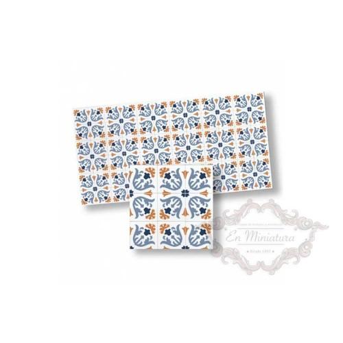 Mosaico tonos azules 34123