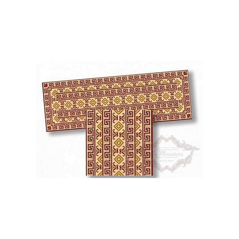 Cenefa de mosaico tonos marones 34180