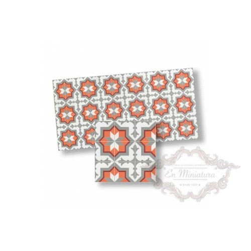 Mosaico grises y naranja 34117