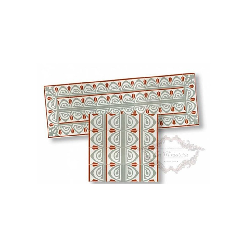 Cenefa de mosaico grises 34179