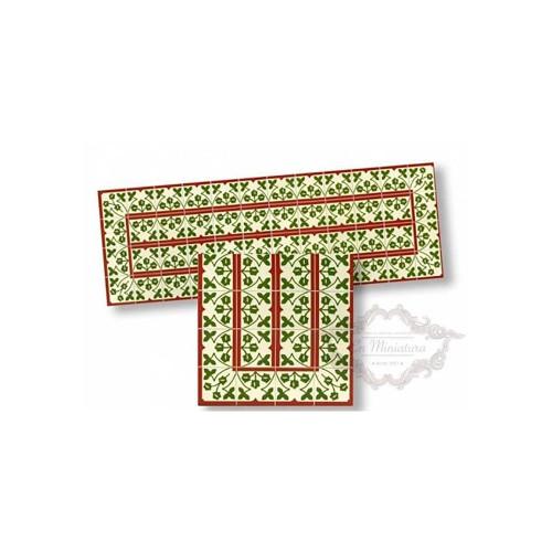 Cenefa mosaico hojas 34176
