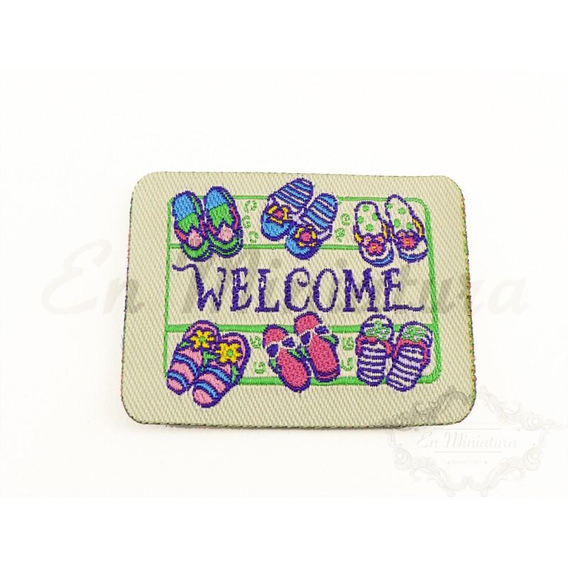Felpudo bordado Welcome