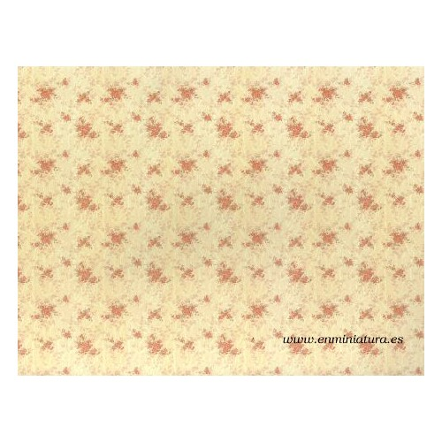 Beige paper with flowers