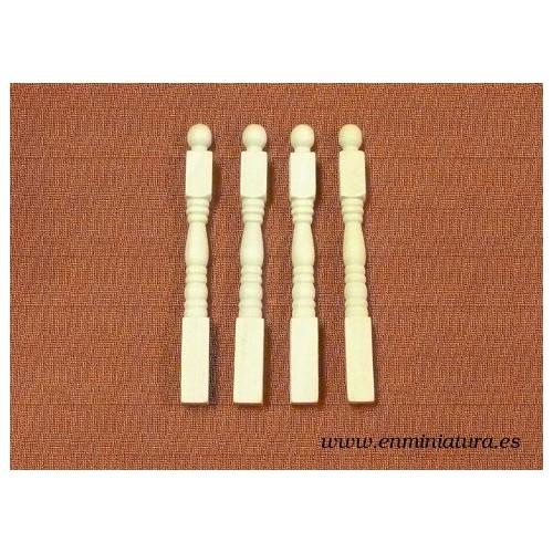 Remates barandillas, 4 unidades