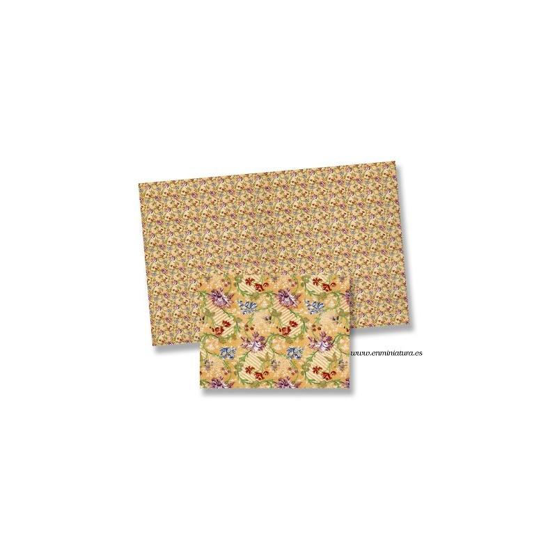 Papel pintado con florecitas mini.