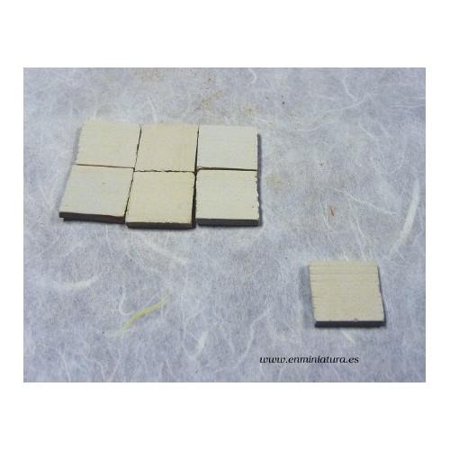Baldosa suelo barro blanca