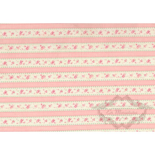 Pink striped fabric