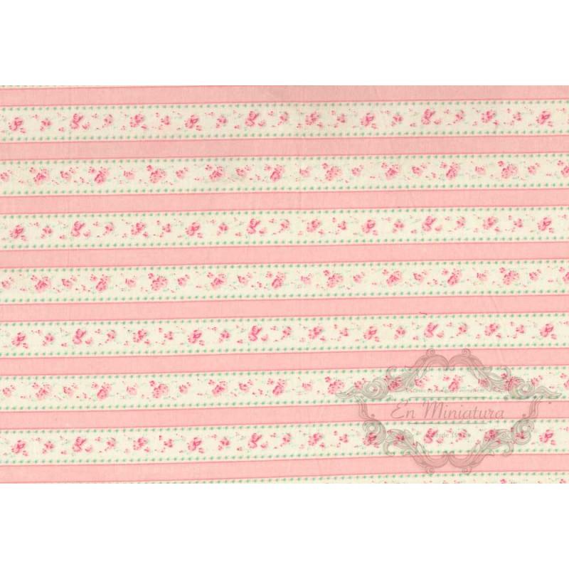 Tela de rayas rosas