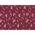 Garnet fabric with flowers