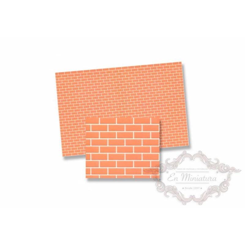 papel de ladrillo rosado