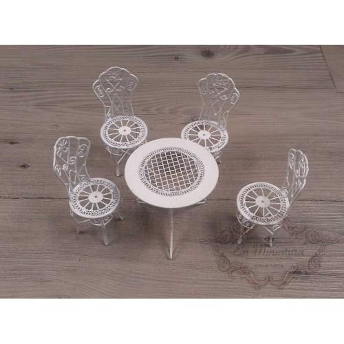 Comprar mesas de jard n en miniatura para casitas de mu ecas for Juego de mesa y sillas de jardin