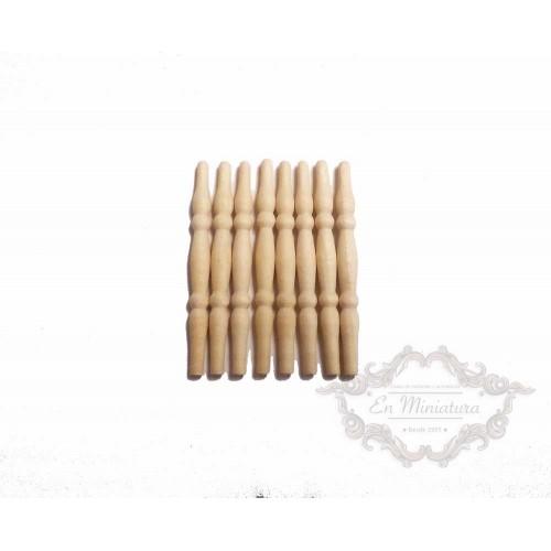 Balaustres de madera finos