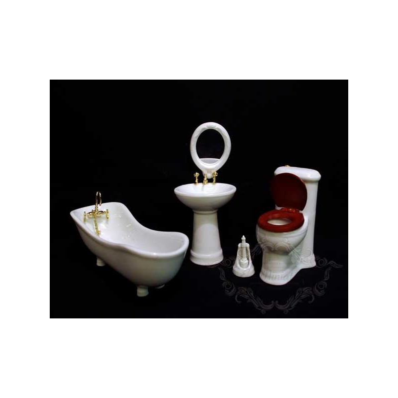 Baño blanco de porcelana