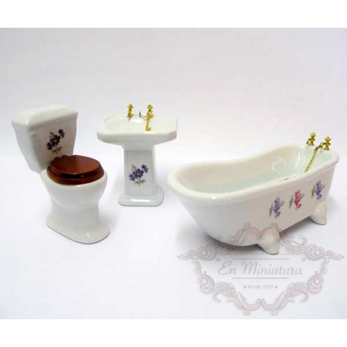 Juego de baño en porcelana