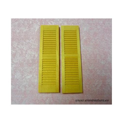 Puerta doble hoja de rejilla o contraventana