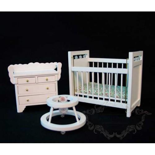 Dormitorio Bebé en blanco
