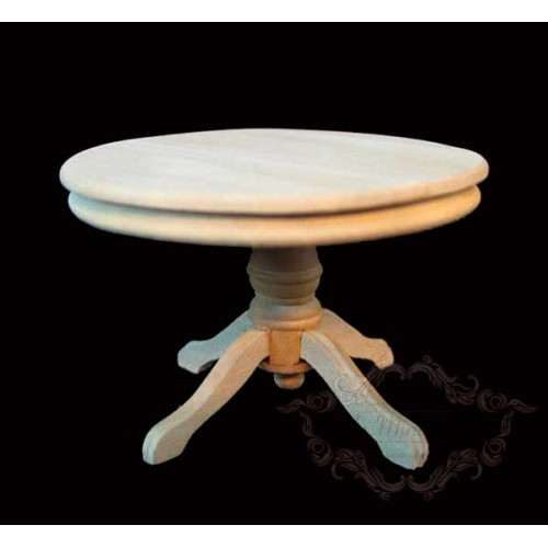 Natural wood round table