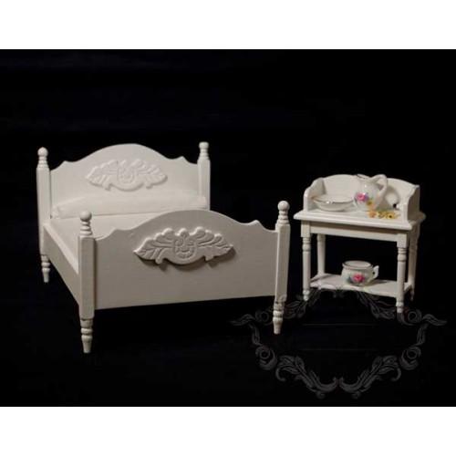 Dormitorio Blanco con lavabo