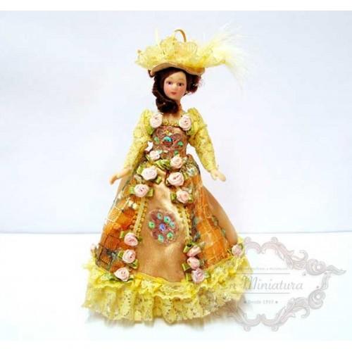 Muñeca victoriana, Miss Julia. Muñecas para casas de muñecas