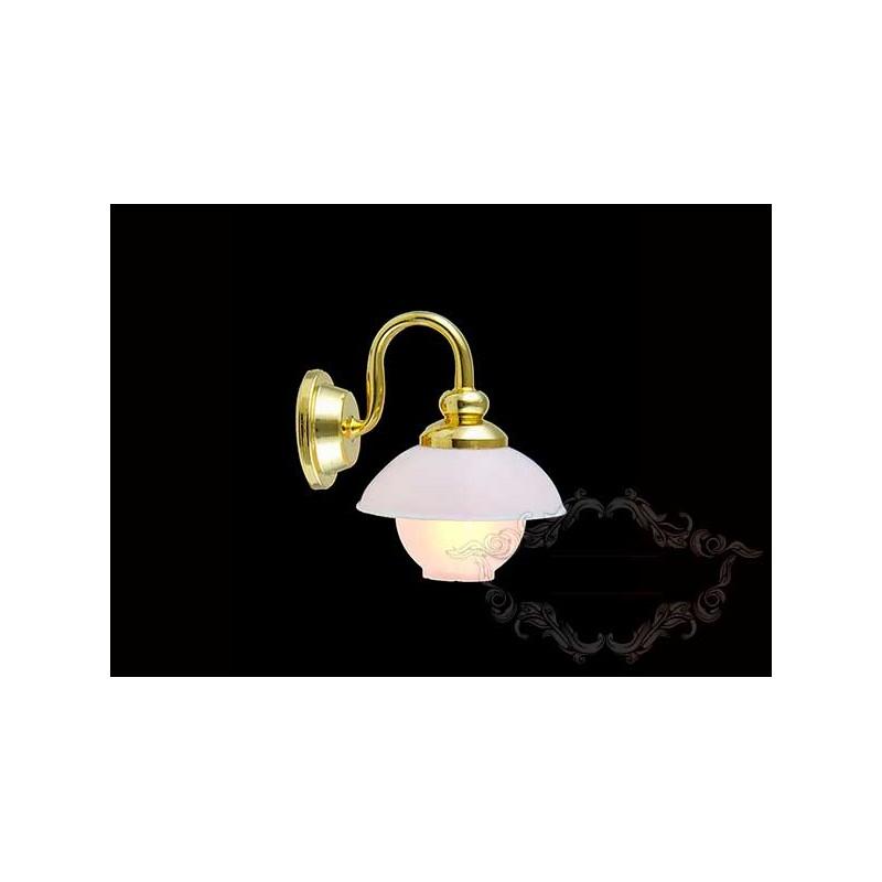 Lámpara pared con globo
