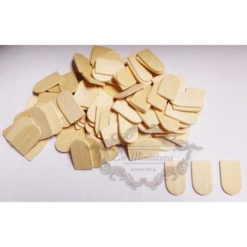Tejas de madera sueltas, 100 unidades