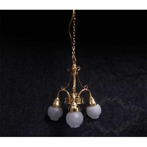 Lámpara de tres brazos con globos