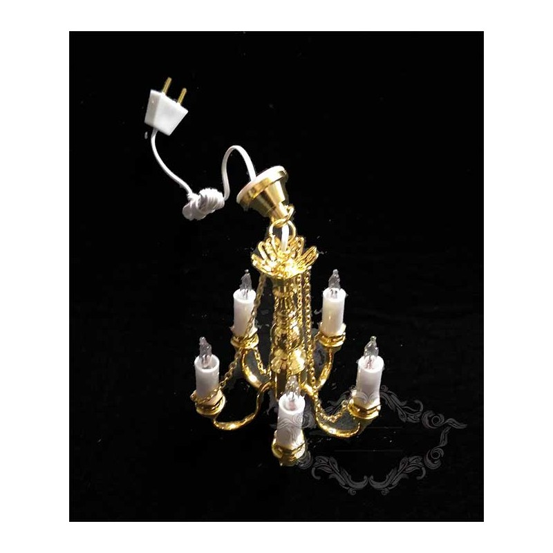 Lámpara cinco brazos de velas