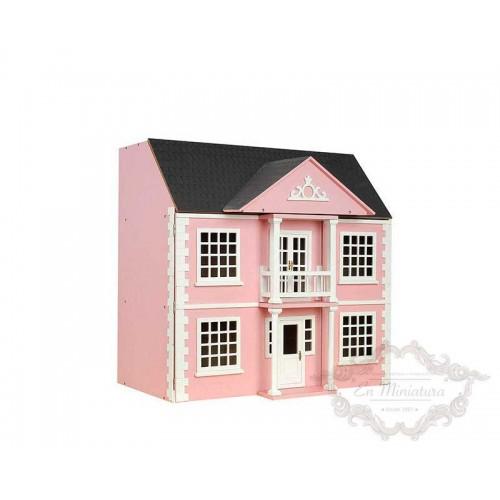 Newnham Manor dollhouse pink color