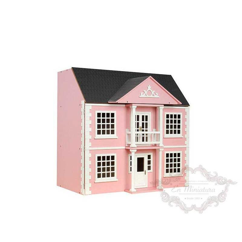 Casa de muñecas Newnham Manor color rosa