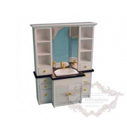 Washbasin cabinet with mirror