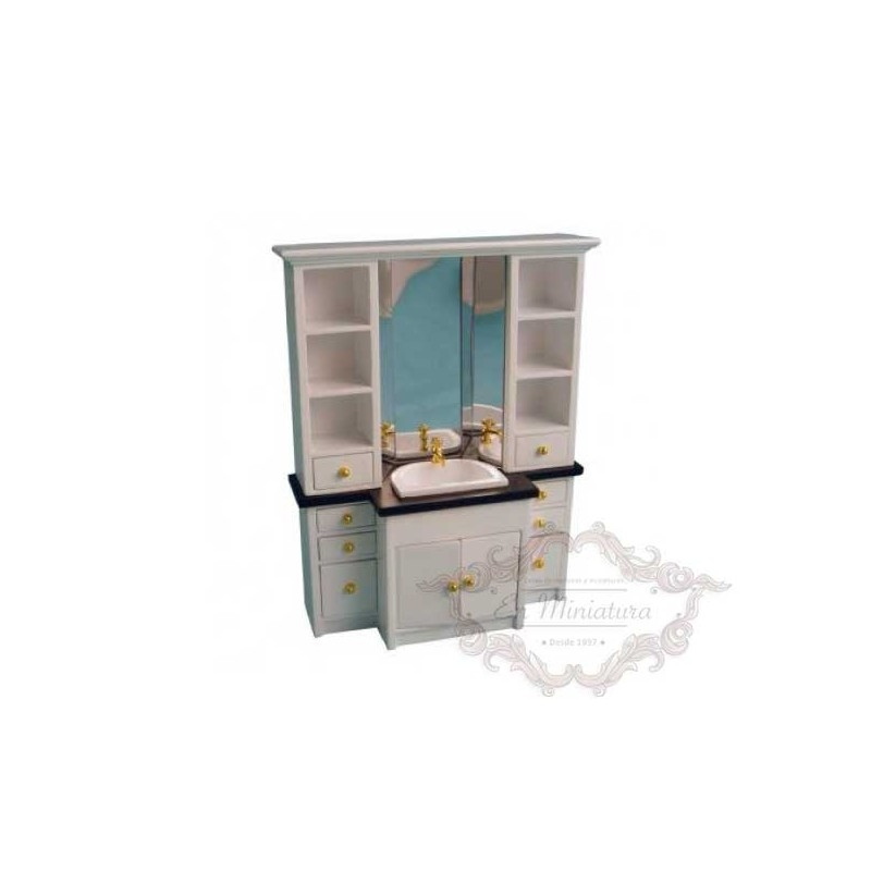 Washbasin cabinet with mirror