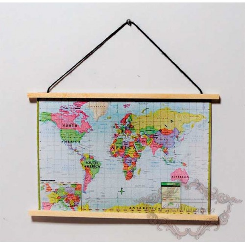 Map of the world in miniature