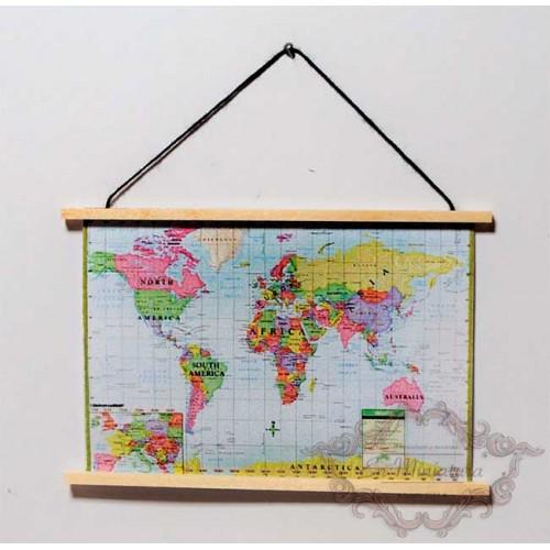 Mapa del mundo en miniatura