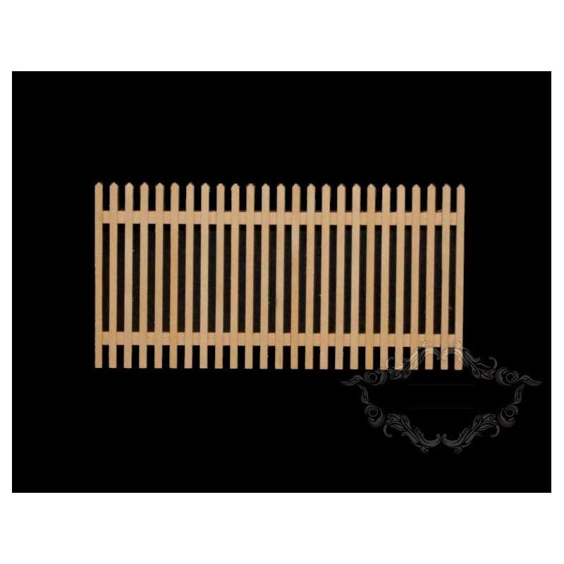 Valla de madera de jardín en miniatura