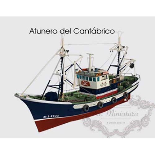 Model Tuna boat of the Bay of Biscay