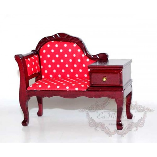 Armchair with bedside table