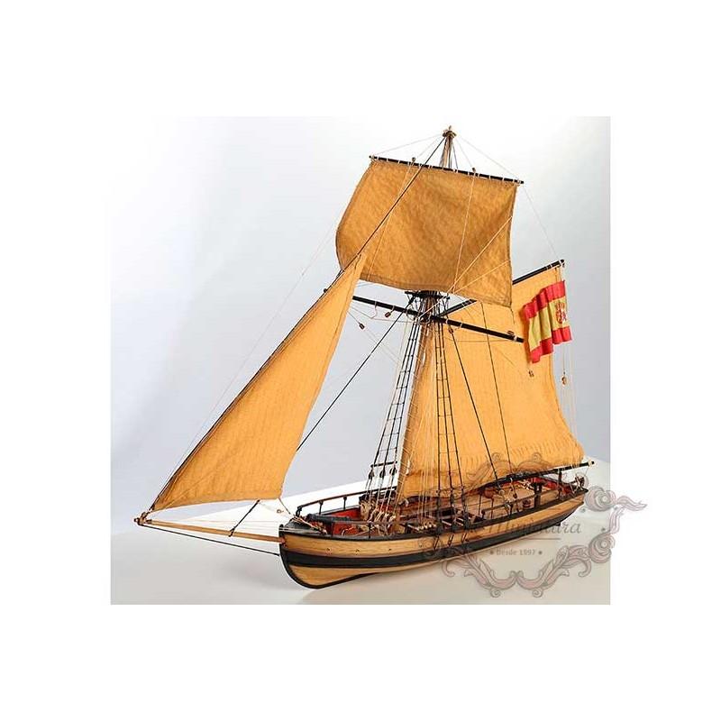 Boat mock-up, Dare-gunboat