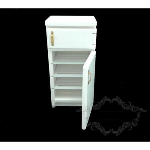 White refrigerator two doors
