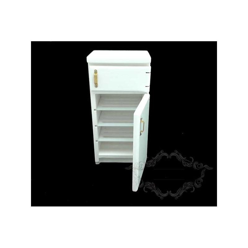 White refrigerator two doors