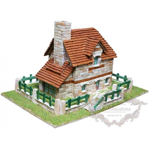 Models of brick houses or stone houses construction kits for Mud brick kit homes