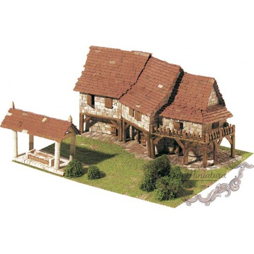 Brick model of cottages, 1412