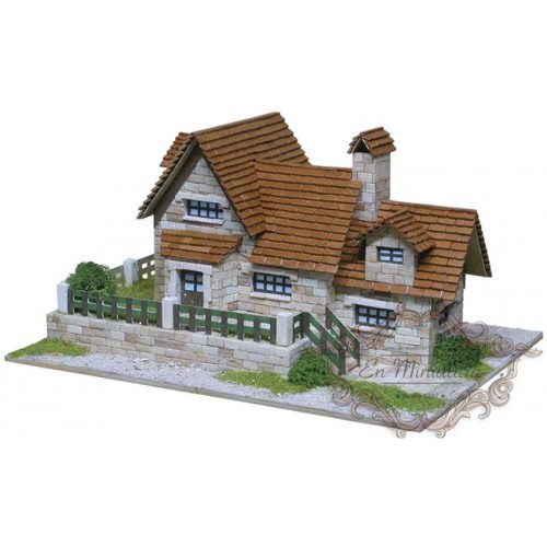 Model of brick house, Chalet 1417