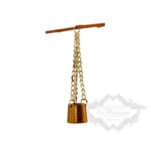 Caldero de metal para colgar
