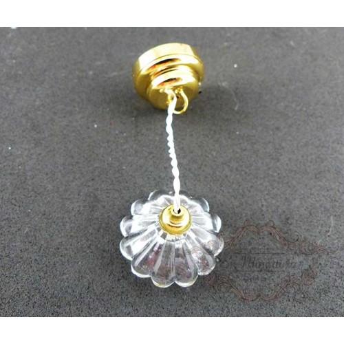 Lámpara a pilas de cristal para casas de muñecas